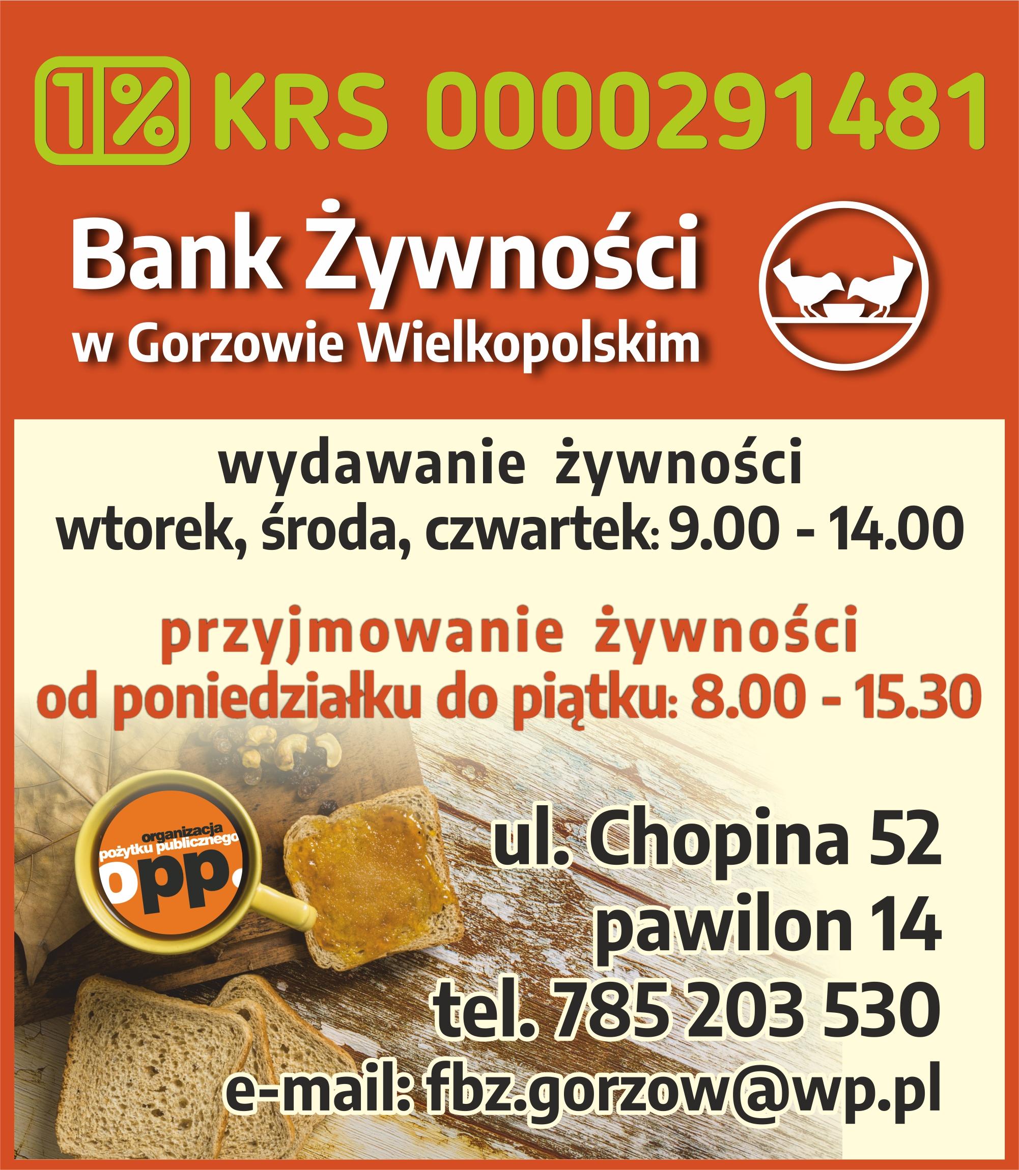 Wspomóż działania Banku Żywności!