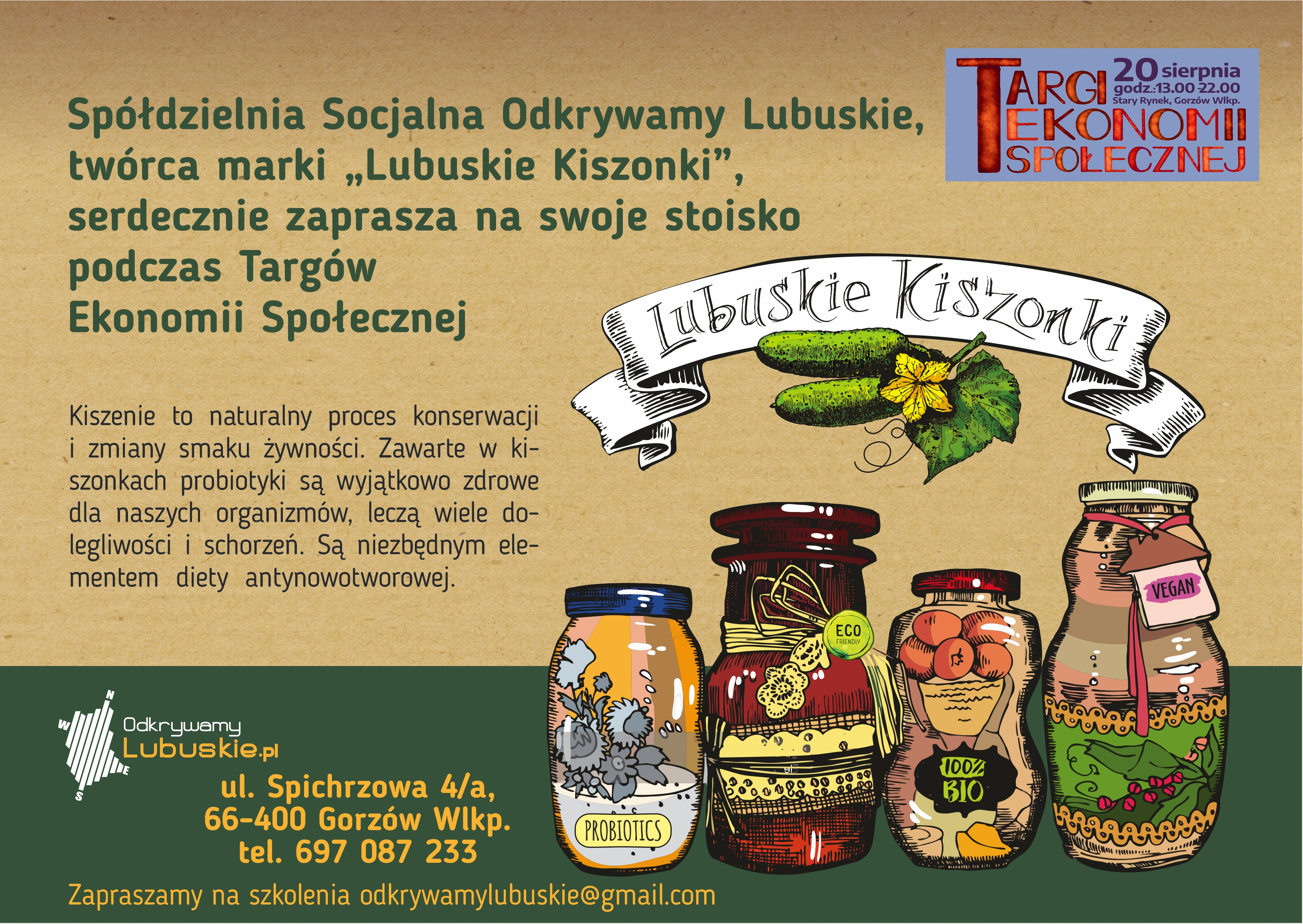 """Najzdrowsze """"Lubuskie Kiszonki"""" – to kolejny gość naszych Targów Ekonomii Społecznej"""