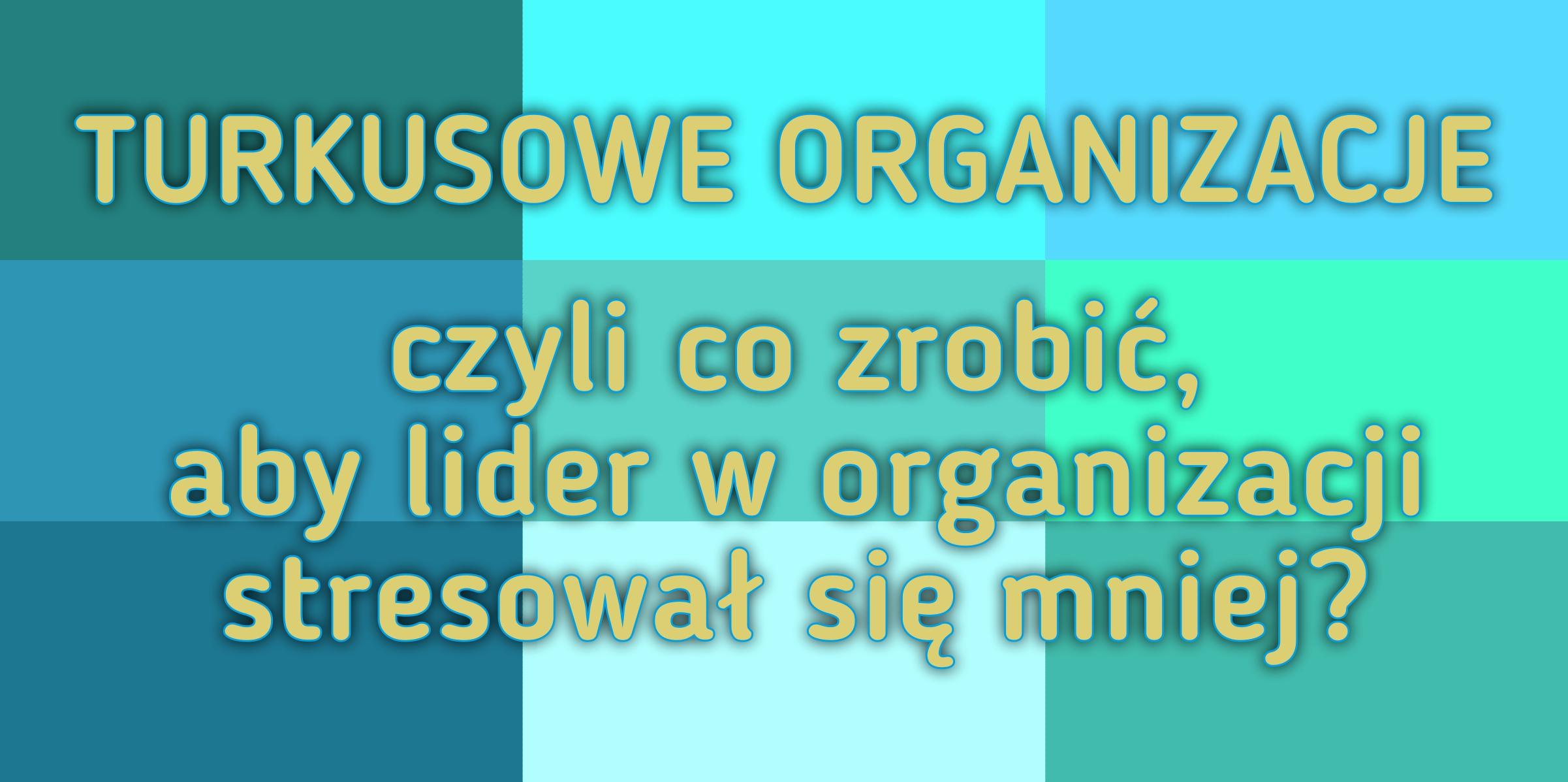 Pracować inaczej – Turkusowe Organizacje